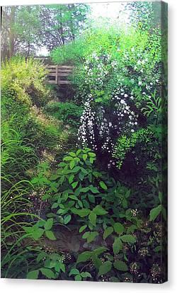 Forgotten Garden Bridge Canvas Print by David Bottini