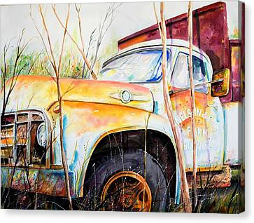 Forgotten Truck Canvas Print by Scott Nelson