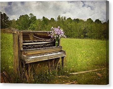Forgotten Tunes Canvas Print by Kathy Jennings