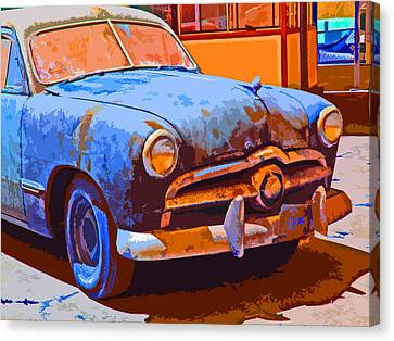 Forlorn 1949 Ford  Front Study Canvas Print by Samuel Sheats