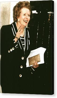 Former British Prime Minister Margaret Canvas Print by Everett