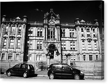 Former Kilmarnock Technical School And Academy Building Now Academy Apartments Scotland Uk Canvas Print by Joe Fox