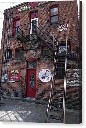 Former Oasis Bordello In Wallace Idaho Mining Town Canvas Print by Daniel Hagerman