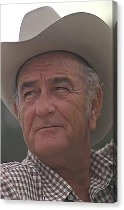 Former President Lyndon Johnson. Lbj Canvas Print by Everett