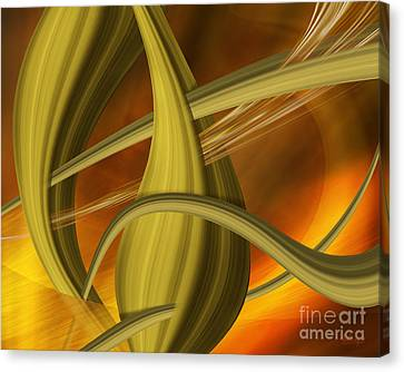 Canvas Print featuring the digital art Forms In Movements 5 by Johnny Hildingsson