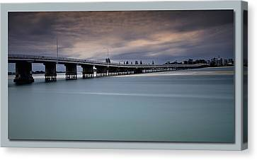 Canvas Print featuring the photograph Forster Bridge 01 by Kevin Chippindall