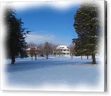 Fort Bayard In Winter Canvas Print by FeVa  Fotos