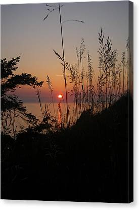 Canvas Print featuring the photograph Fort Ebey Sunset by Cheryl Perin