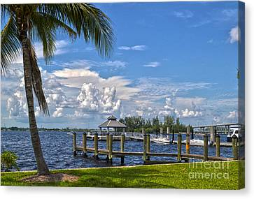 Fort Myers Dock Canvas Print by Timothy Lowry
