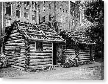 Downtown Nashville Canvas Print - fort nashborough stockade recreation Nashville Tennessee USA by Joe Fox