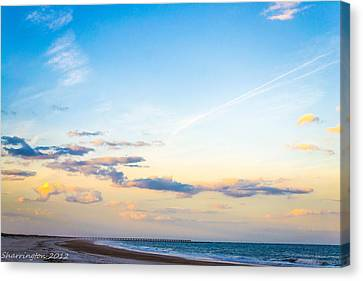 Canvas Print featuring the photograph Forte Clinch Pier by Shannon Harrington
