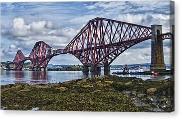 Forth Bridge In Scotland Canvas Print