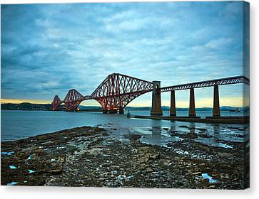 Forth Rail Bridge Canvas Print by Svetlana Sewell