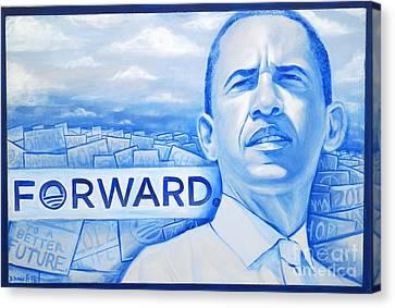 Forward Obama 2012 Canvas Print by Derek Donnelly