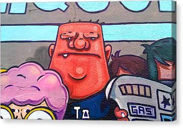 Found Graffiti 29 La Fang Canvas Print by Jera Sky