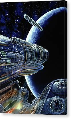 Foundation Trilogy Canvas Print by Don Dixon