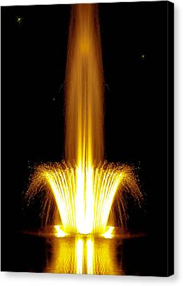 Fountain Flames Canvas Print by DigiArt Diaries by Vicky B Fuller