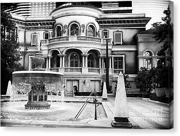 Fountain In The Pool Canvas Print by John Rizzuto