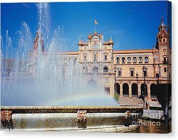 Fountain Rainbow Canvas Print
