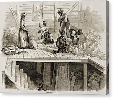 Four 1869 Illustrations Show Processing Canvas Print by Everett
