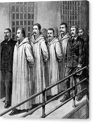 Four Chicago Anarchists Convicted Canvas Print by Everett