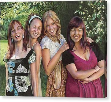 Four Friends  Canvas Print by Laura Leonard