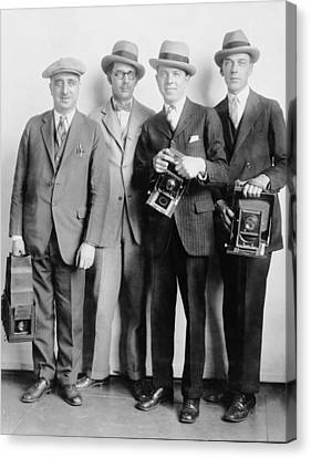 Four Members Of The White House News Canvas Print by Everett