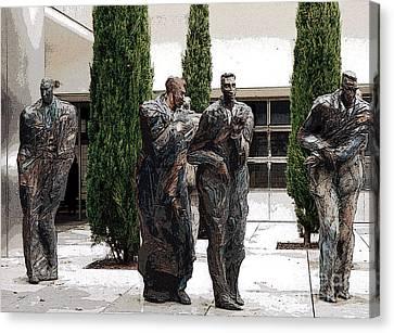 Four Men Canvas Print by Patricia Januszkiewicz