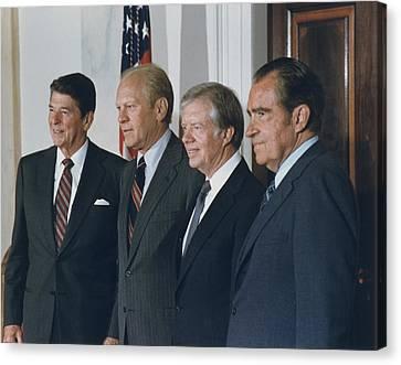 Four Presidents Reagan Ford Carter Canvas Print by Everett