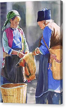 Chinese Peasant Canvas Print - Fowl Decision by Sharon Freeman