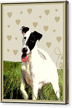 Fox Terrier Smooth Canvas Print by One Rude Dawg Orcutt