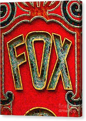 Fox Theater Oakland Sign Canvas Print
