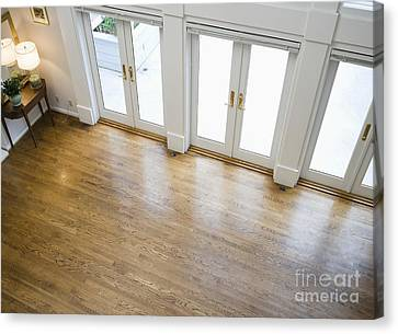 Foyer And French Doors Canvas Print