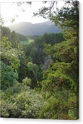 Canvas Print featuring the photograph Foyers Valley by Charles and Melisa Morrison