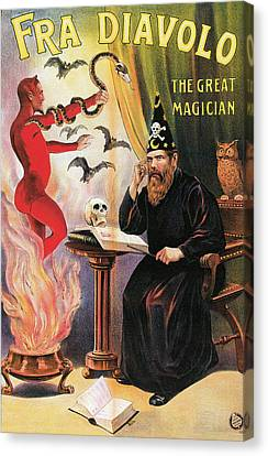 Fra Diavolo The Great Magician Canvas Print by Unknown