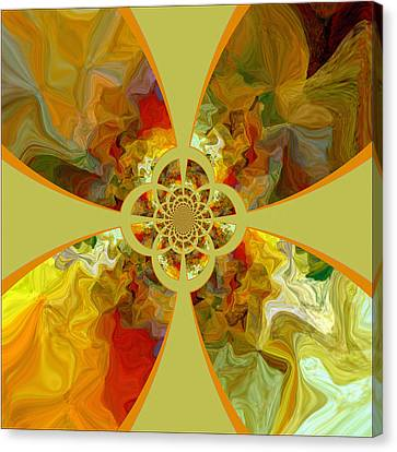 Fractal Floral Canvas Print by Bonnie Bruno