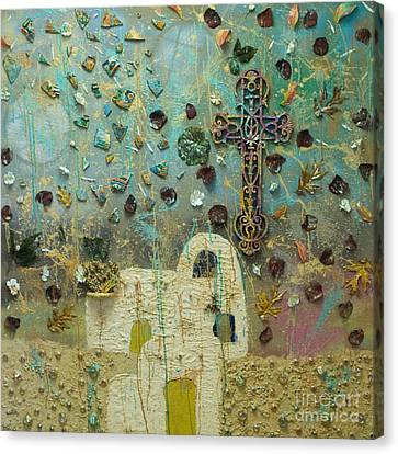 Fragmented Ascent Canvas Print by Stephanie Ward