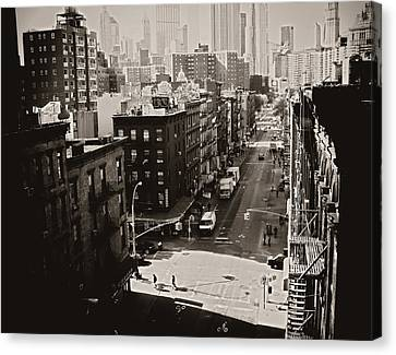 Fragments Of History - Above A New York City Street Canvas Print by Vivienne Gucwa
