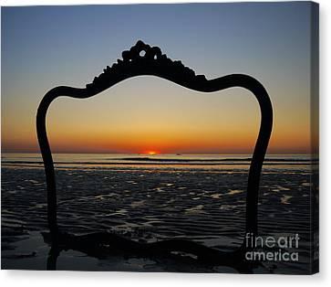 Framed Sunrise Canvas Print by Nancie DeMellia