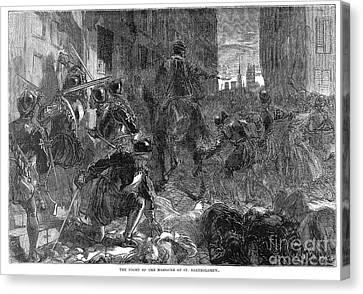 France: Massacre, 1572 Canvas Print by Granger