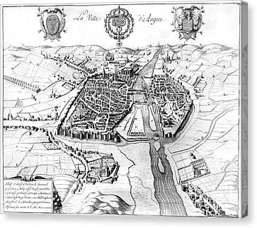 France: Walled City, 1688 Canvas Print by Granger