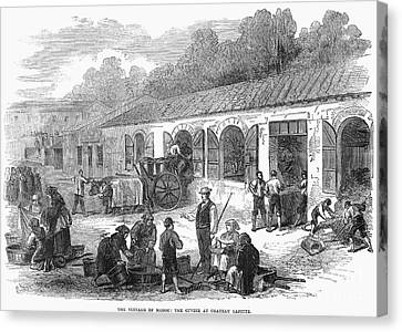 France: Winemaking, 1871 Canvas Print by Granger