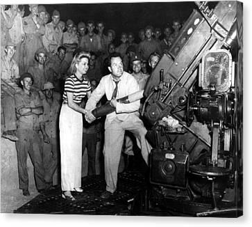 Frances Langford & Bob Hope Entertain Canvas Print by Everett