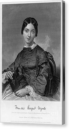 Frances Sargent Osgood (1811-1850). American Poet. Engraving From A Painting By Alonzo Chappel, C1873 Canvas Print