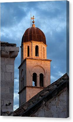 Franciscan Monastery Tower At Sunset Canvas Print by Artur Bogacki