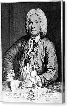 Francois Couperin (1668-1733). French Composer And Organist. Copper Engraving, 1725, By Joseph Flipart After A. Bouys Canvas Print by Granger