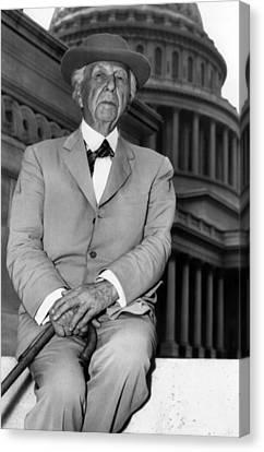 Frank Lloyd Wright 1867-1959, Prominent Canvas Print by Everett