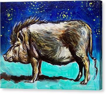 Frank Canvas Print by Sheila Tajima