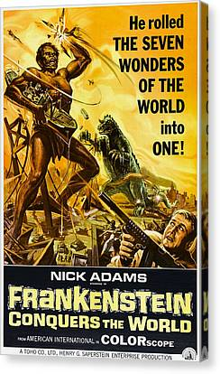 Horror Fantasy Movies Canvas Print - Frankenstein Conquers The World, Aka by Everett