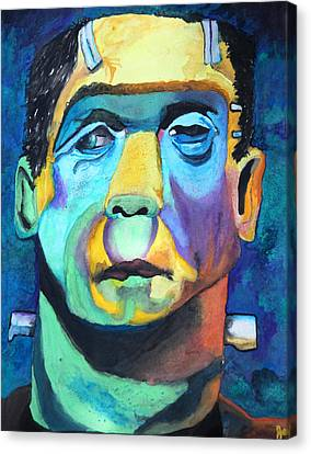 Frankenstein In Colour Canvas Print by Jacquie Waldman